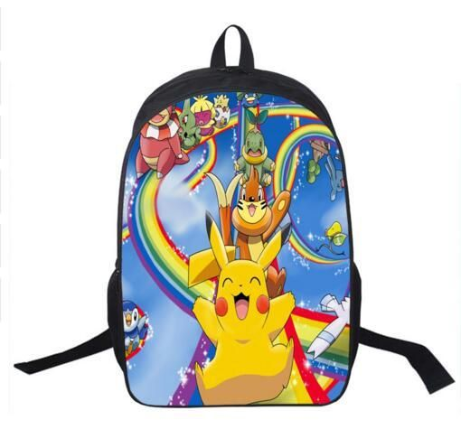 c2f7fd0d3d47 Anime Pokemon Daily Backpack Boys Girls School Bags Pikachu Prints Backpack  For Teenagers Kids Gift Backpacks Schoolbags Mochila