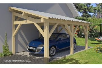 Carport Dinard 19 6 M Couvert Carport Designs Porch Design Deck Designs Backyard