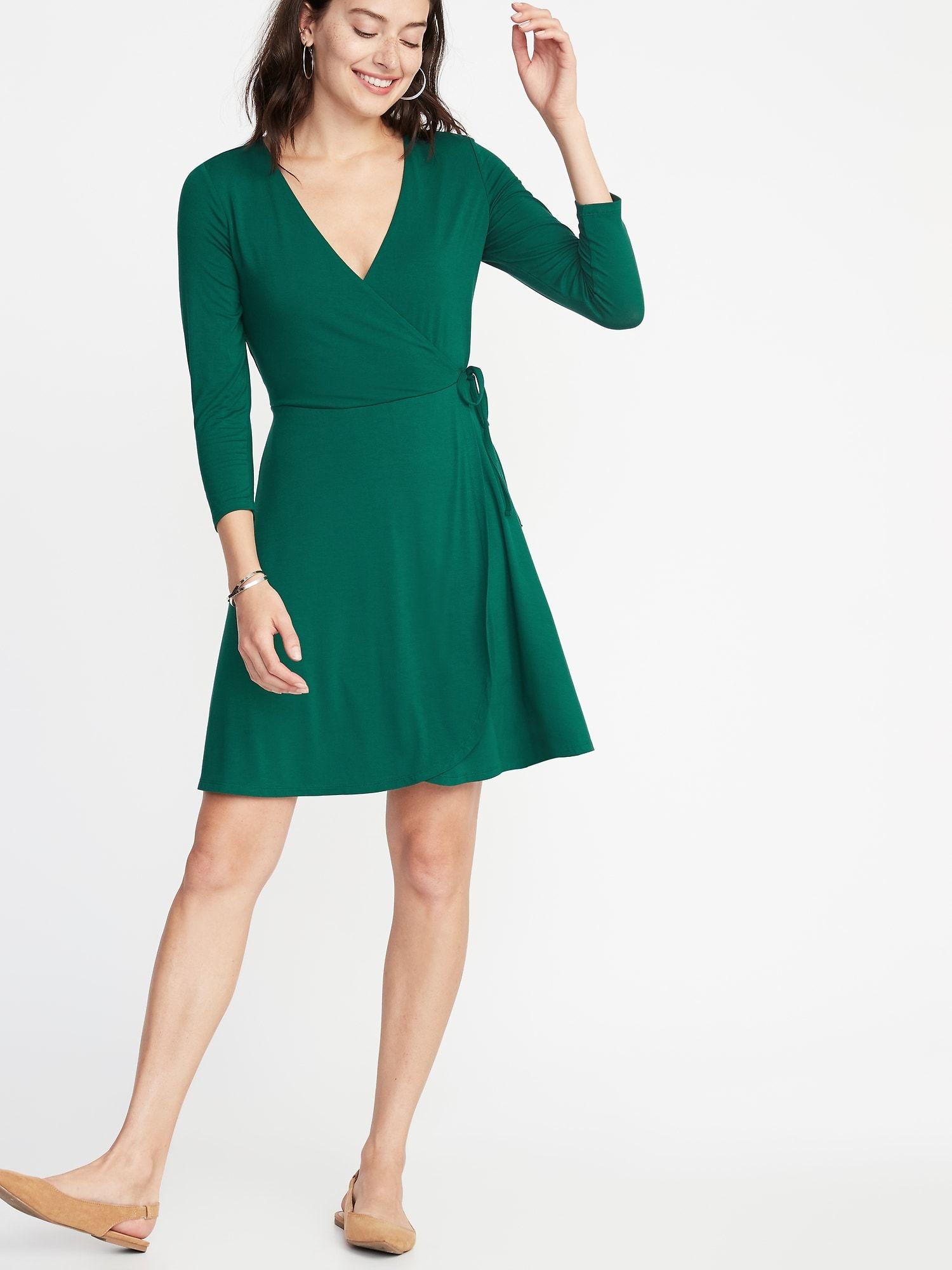 Waist Defined Wrap Front Dress For Women Old Navy Wrap Front Dress Womens Dresses Evening Dresses Uk [ 2000 x 1500 Pixel ]