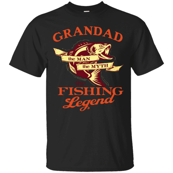 Men's Papa shirt GRANDAD THE MAN THE MYTH THE FISHING LEGEND shirt #papashirts
