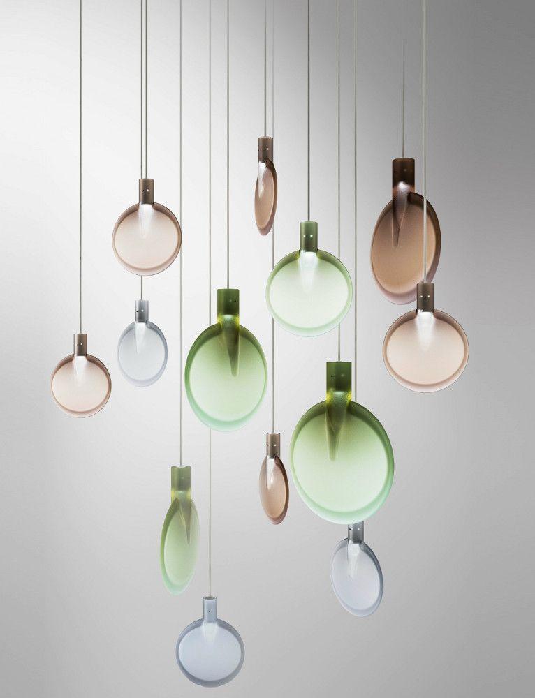 LED pendant lamp NEBRA by FontanaArte   #design Sebastian Herkner ...
