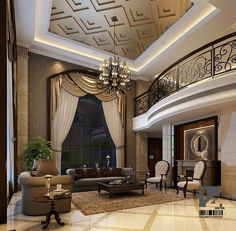 Luxury Mansion Living Room Designer: Modern And Luxury Living Room Interior Idea