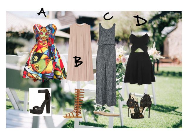 Wedding by shitawabah on Polyvore featuring Versace, QED London, Topshop, La Perla and Blowfish