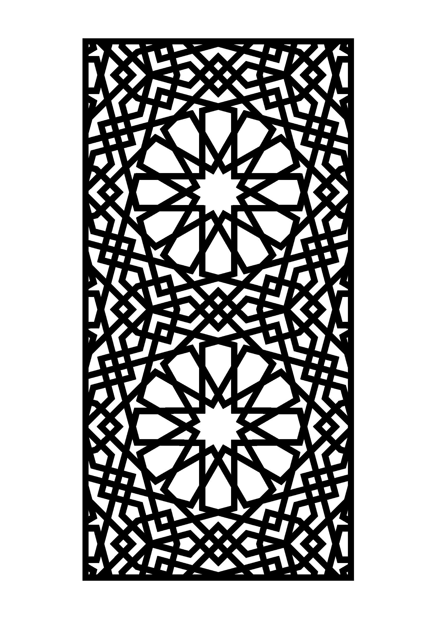 Dessin Marocain Pochoir Laser Cut Door 6mm Steel Plasma Cut Gates Doors And
