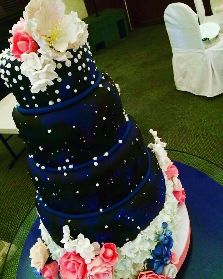 Our Motif was Midnight Blue & Sliver with a touch of Old Rose for ...