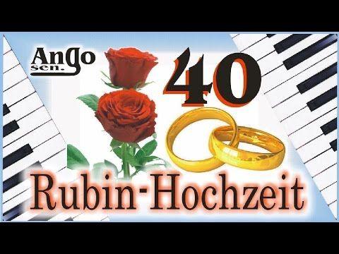 40 Hochzeitstag Rubin Hochzeit Blumentopf Von Myfacepot