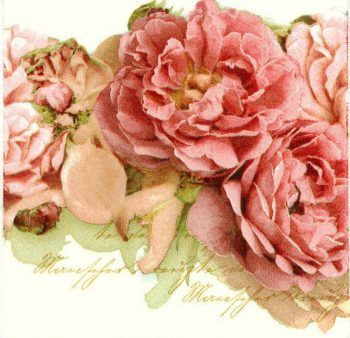 Decoupage Paper Napkins of Mantle of Mary Roses #papernapkins