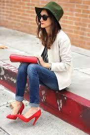 Resultado de imagen para outfits zapatos rojos