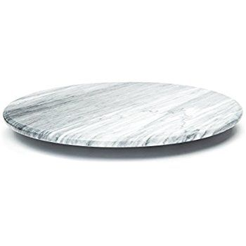 Amazon Com Marble Stone Lazy Susan For Table Round Spinning Serving Plate 12 Inch White Marble Serving T Marble Lazy Susan Lazy Susan Marble Serving Trays