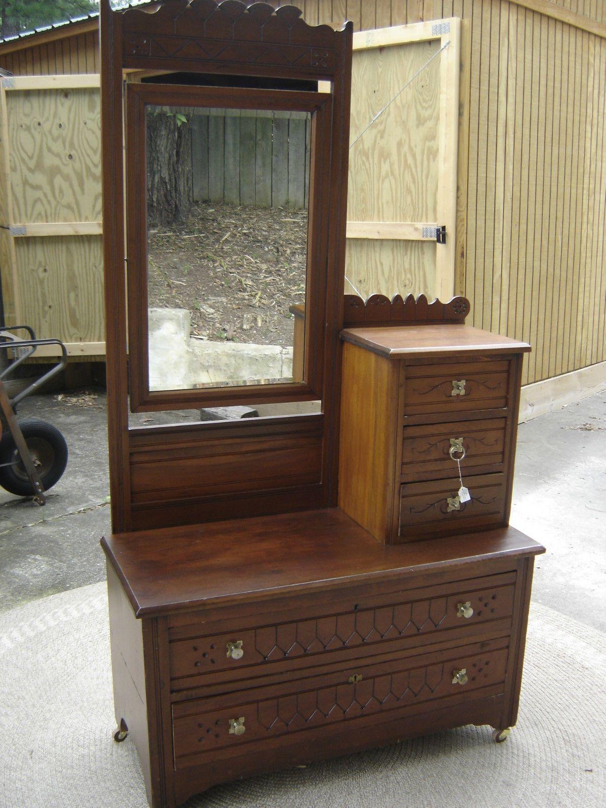 Cherry Eastlake Gentleman s Dresser with Hat Box 6710   eBay. Cherry Eastlake Gentleman s Dresser with Hat Box  6710   Hat boxes