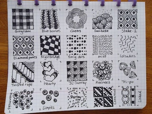 Zentangle Patterns Step by Step | Found on
