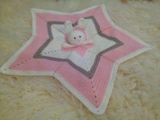 Janitan kätösistä: Vauvan uniriepu, tähti - ohje