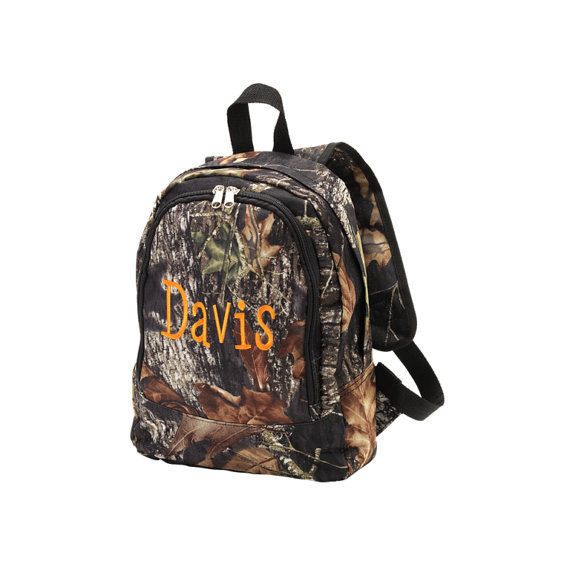 Woods Camo Toddler Backpack with Name - Kids & Adults - Travel Bag ...