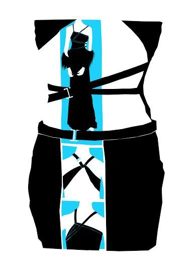 Fashion illustration of Tom Ford dress