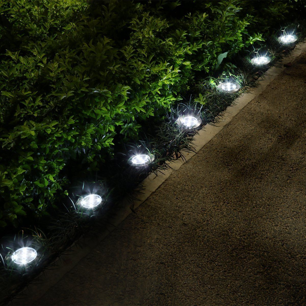 19 99 Solar Garden Light Yunlights 5 Led Solar Ground Lights Waterproof Patio Light With Dark Sensing Fo Solar Lights Garden Outdoor Solar Lights Lawn Lights