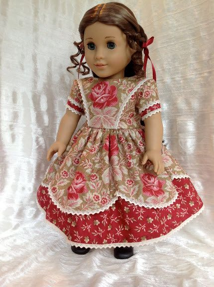 1850\'s red rose gown for your 18\