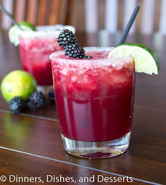 Skinny Blackberry Margarita recipe. Yes please!