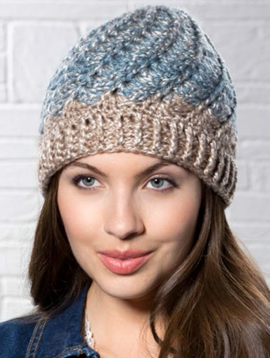 Mary Maxim - Free Spiral Shell Hat Pattern - Free Patterns ...