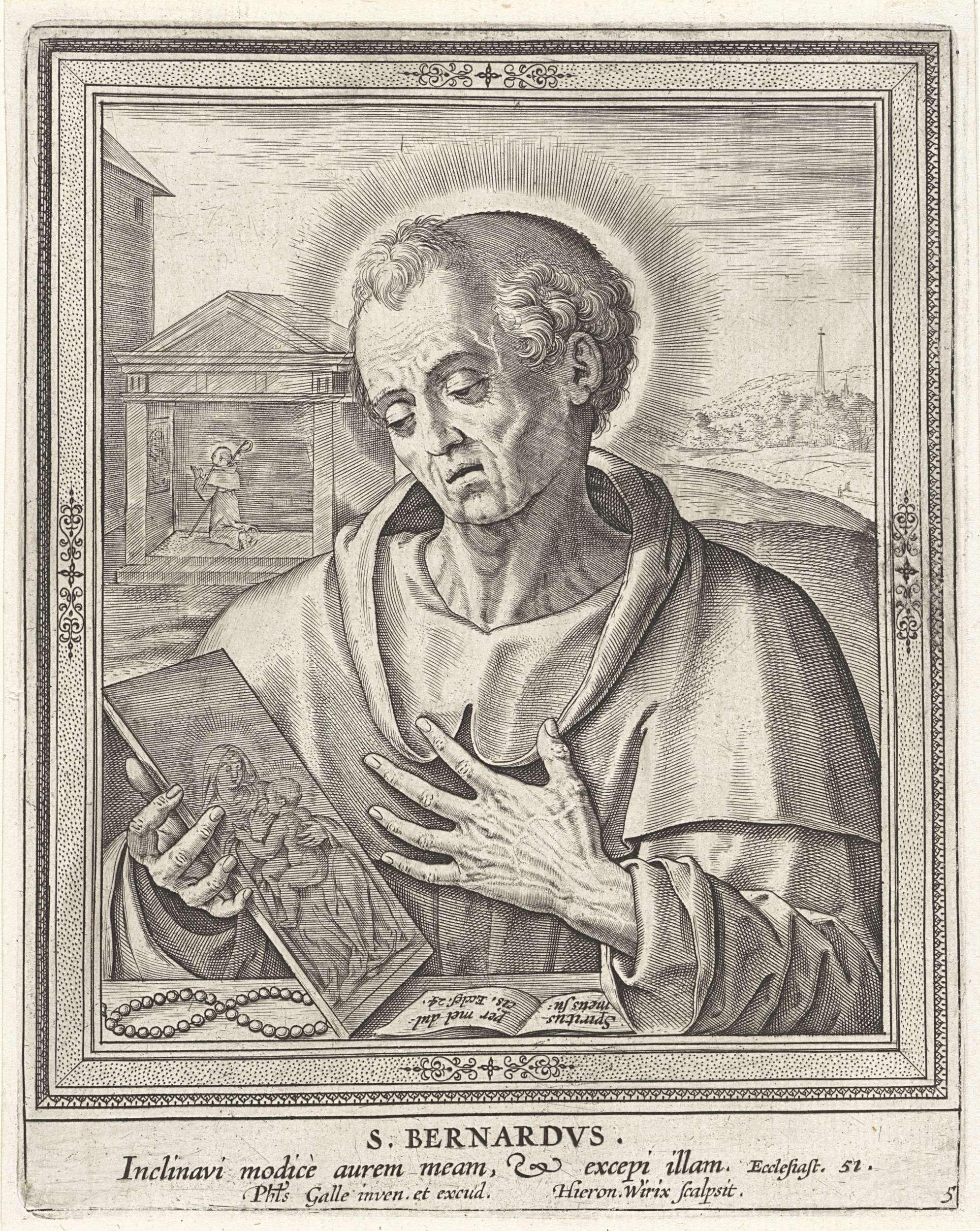 Hieronymus Wierix H Bernardus Van Clairvaux Hieronymus