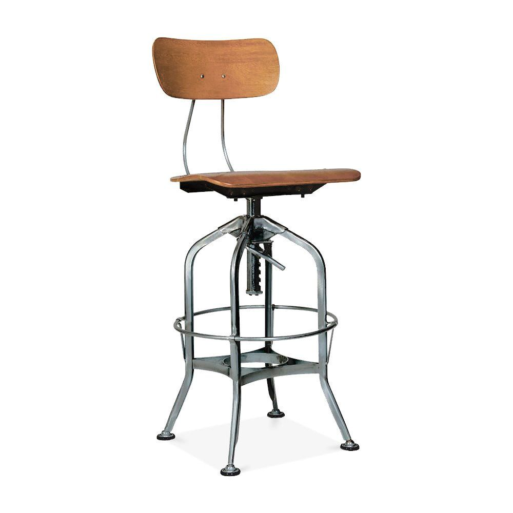 Originally Designed In The Early 1900s The Toledo Bar Chair Was Created With Schools Industrial Shops And Drafts People In Min Bar Chairs Bar Stools Back Bar