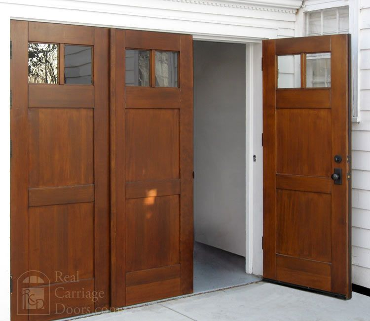 Bi folding doors or accordian doors by real carriage door for Real carriage hardware