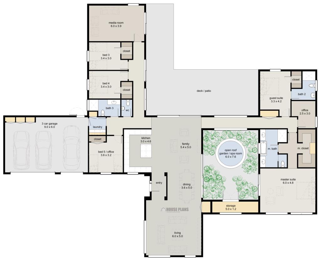 Zen Lifestyle 5 5 Bedroom House Plans New Zealand Ltd In 2020 House Plans 5 Bedroom House Plans House Floor Plans