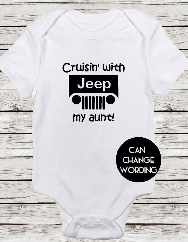 Cruisin With My Aunt Jeep Baby Bodysuit Great For A Shower