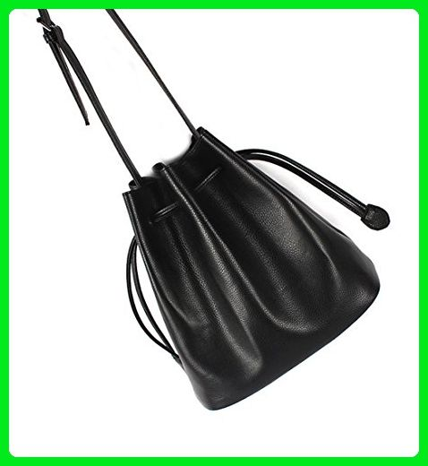 Top Shop Womens Leather Bucket Tote Shoulder Messenger Bags Handbags Black Hobos - Shoulder bags (*Amazon Partner-Link)