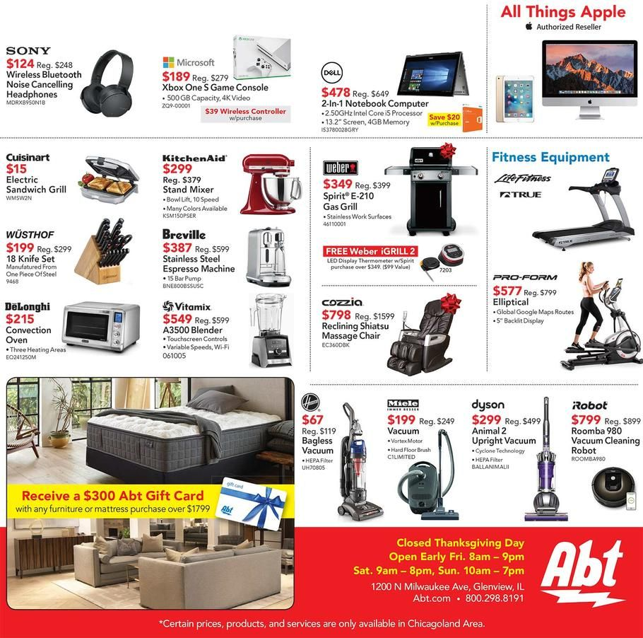 Abt Electronics Black Friday 2017 Ad Scan Deals And Sales Founded With 800 In 1936 Abt Electronics Has Become One O Electronics Appliance Store Black Friday