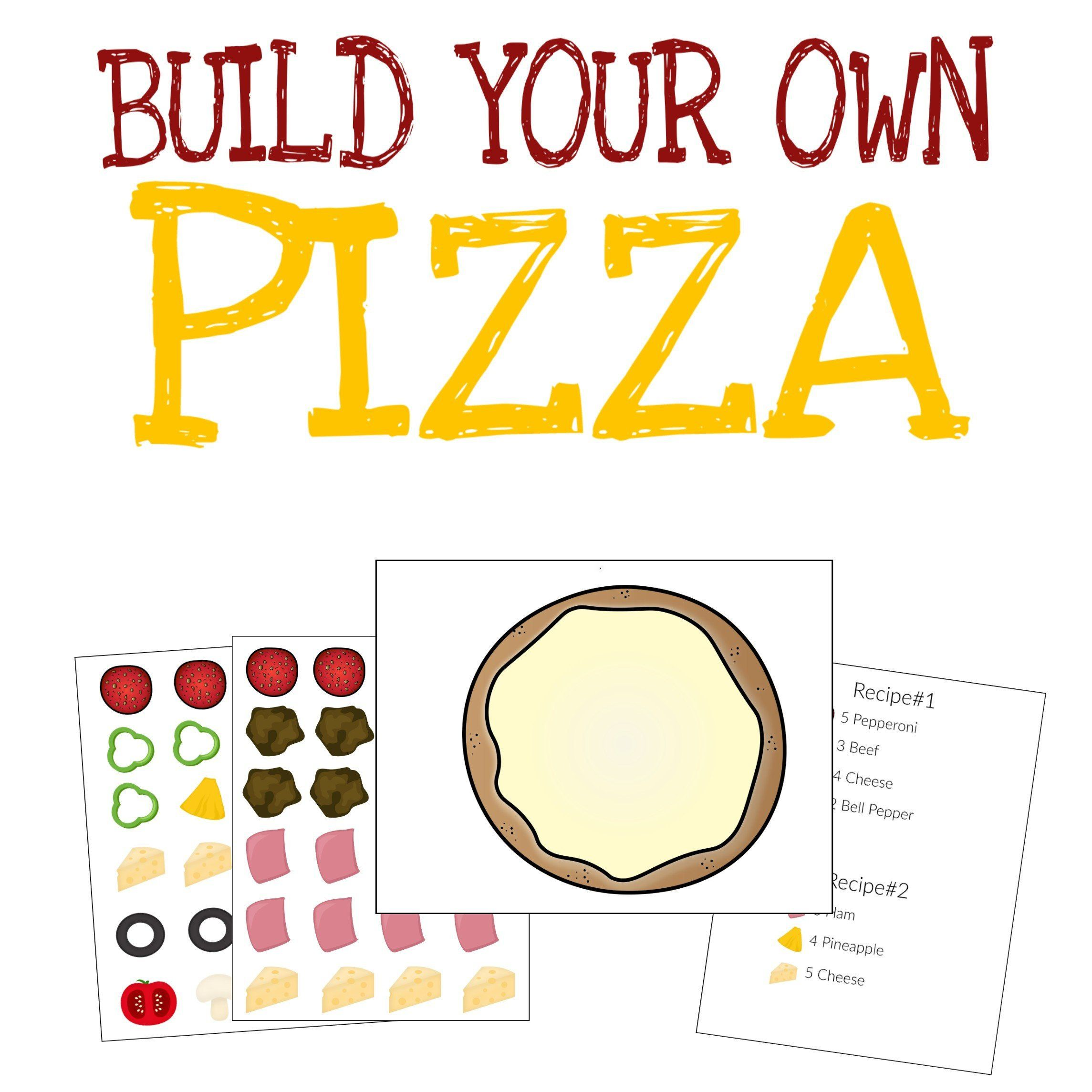 Pizza Pretend Play Dramatic Play Quiet Book Activity