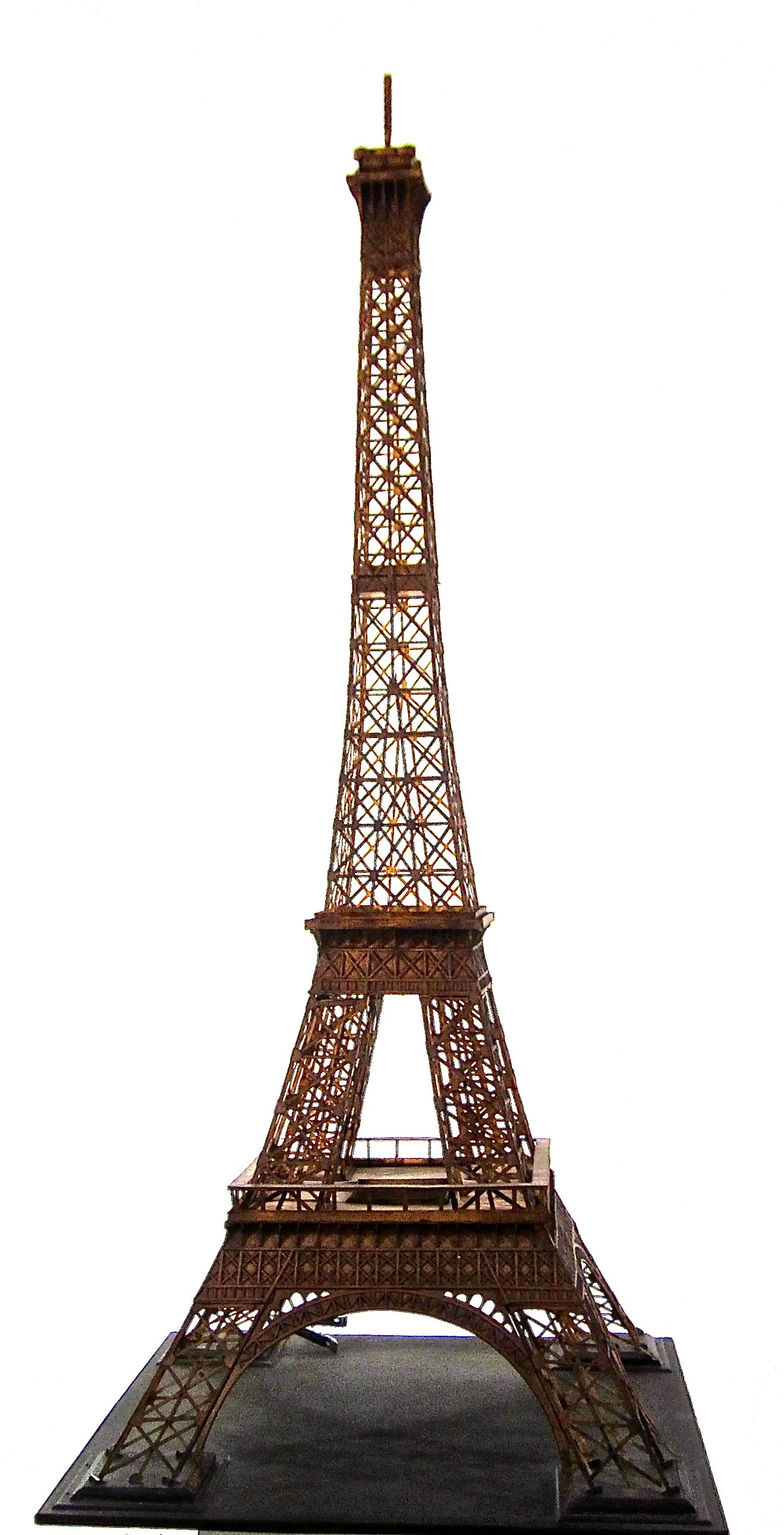 Large Model Of Eiffel Tower Paris Well Detailed And In