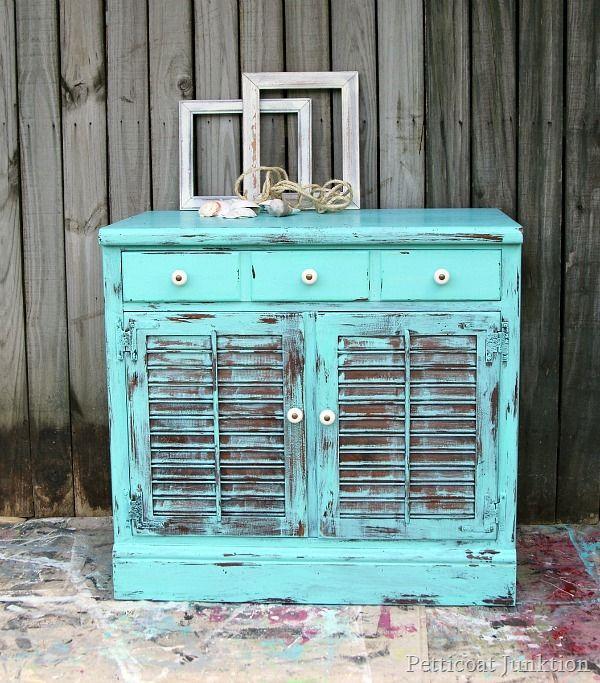 Take Me To The Beach Turquoise Furniture Petticoat Junktion - Take Me To The Beach Turquoise Painted Furniture Ideas Pinterest