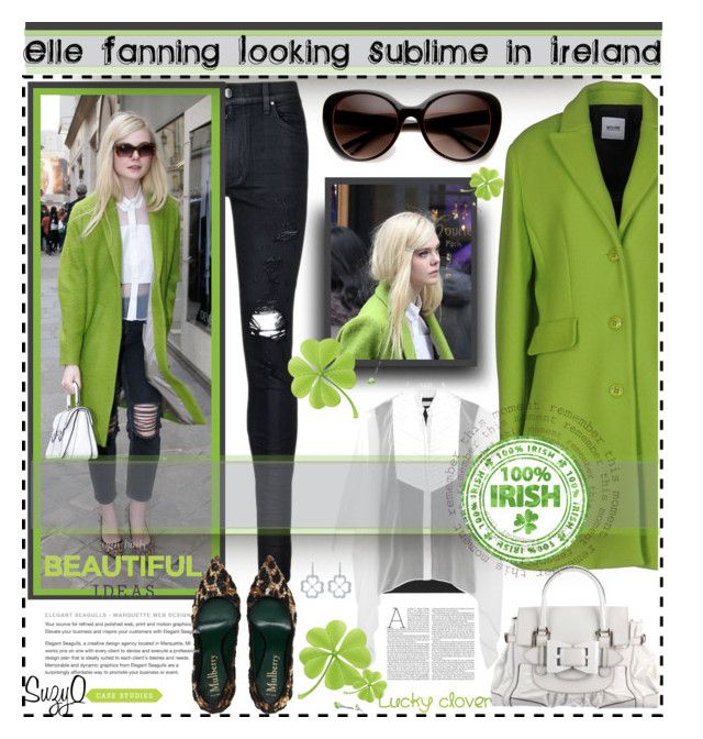 """""""SUBLIME GREEN SPRING FASHION"""" by polyvore-suzyq ❤ liked on Polyvore featuring AMIRI, Moschino Cheap & Chic, ZeroUV, Gucci, Brunello Cucinelli, Nicole and Gumuchian"""