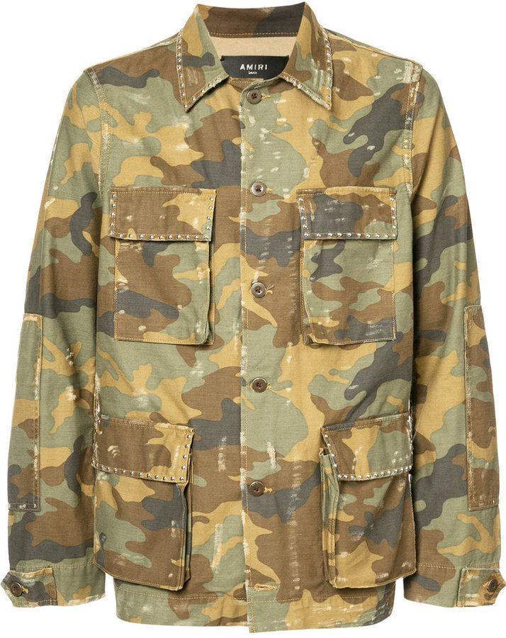 b41f65d006ab0 Amiri military shirt jacket   Products   Jackets, Shirt jacket, Mens ...