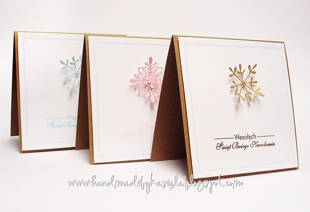christmas cards / kraft cards / clean & simple