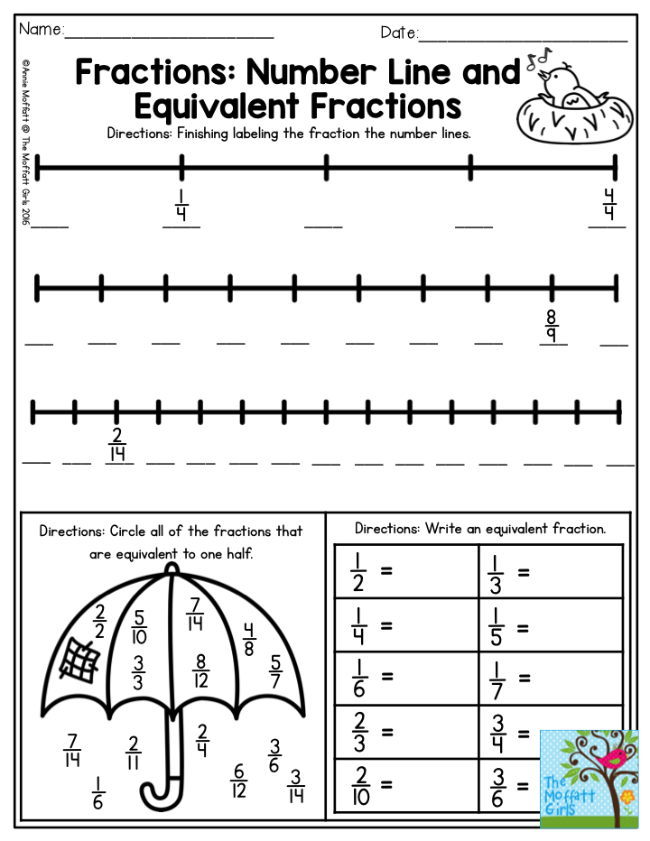 April FUNFilled Learning! Fractions 3rd grade math
