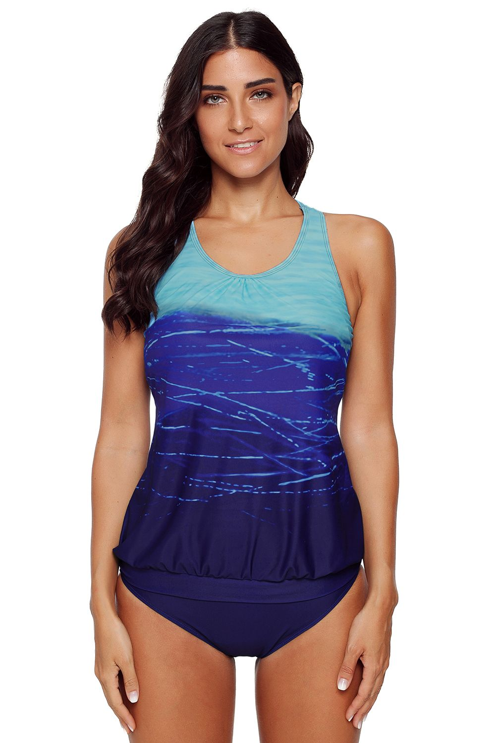 c623798d07 2pcs Tankini Swimsuit - Blue, (US 16-18)XL in 2019   Products ...