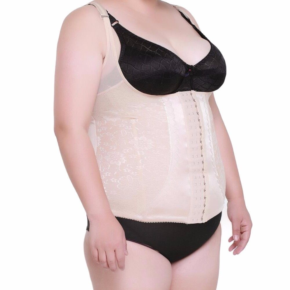 274084a969 Large Plus Size Women Girdle - Slimming Belly Band Corset Body Shaper Tummy  Tuck  HHD  Girdle