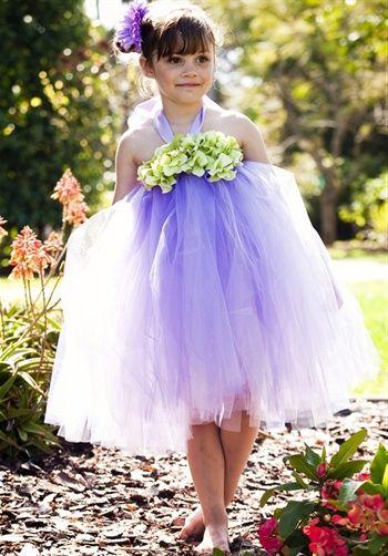 fea065d24bb7c Tulle flower girl dress with hydrangea flower accent | Pixie Fairy Halter  Dress from Little Miss Princess Tutu