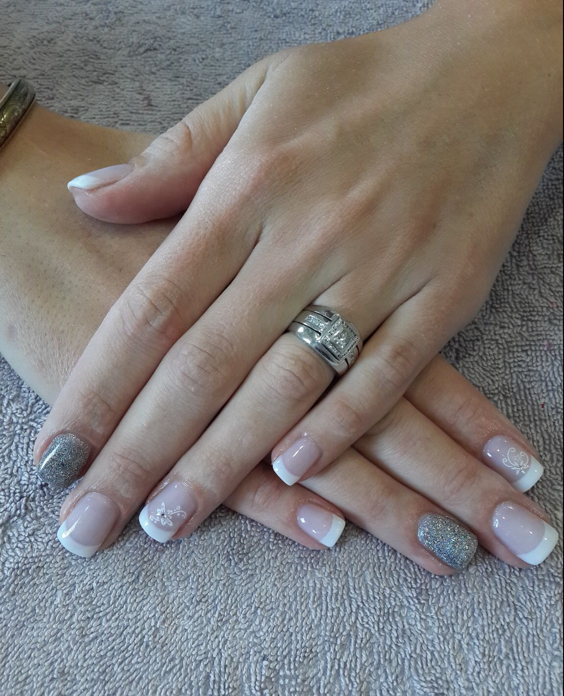 Acrylic French overlay on natural nails | Serenité health & beauty ...