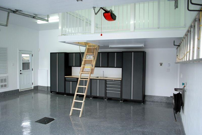 Contemporary Garage And Shed By Espace Garage Plus Inc Garage Interior Garage Design Interior Garage Attic