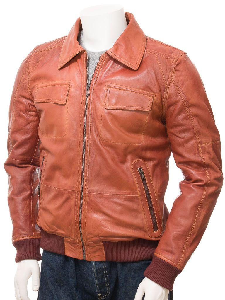 Men S Rust Leather Bomber Jacket Huish Men Hs Jackets Leather Bomber Jacket Leather Jacket Leather Jacket Men [ 1024 x 768 Pixel ]