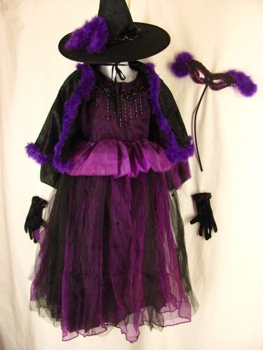 Deluxe #WITCH #Halloween #Costume Cracker Barrel 5 pc Dress Hat Cape Gloves Mask 2T - 4T Only 23.91 & Deluxe #WITCH #Halloween #Costume Cracker Barrel 5 pc Dress Hat Cape ...