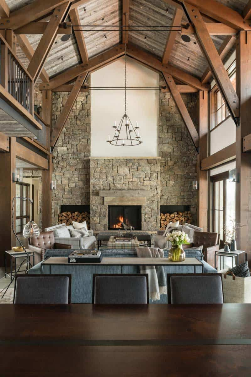 Mountain Modern Luxury Home Inspired By Gorgeous Wyoming Landscape Mountain Modern Rustic Mountain Homes Modern House Design
