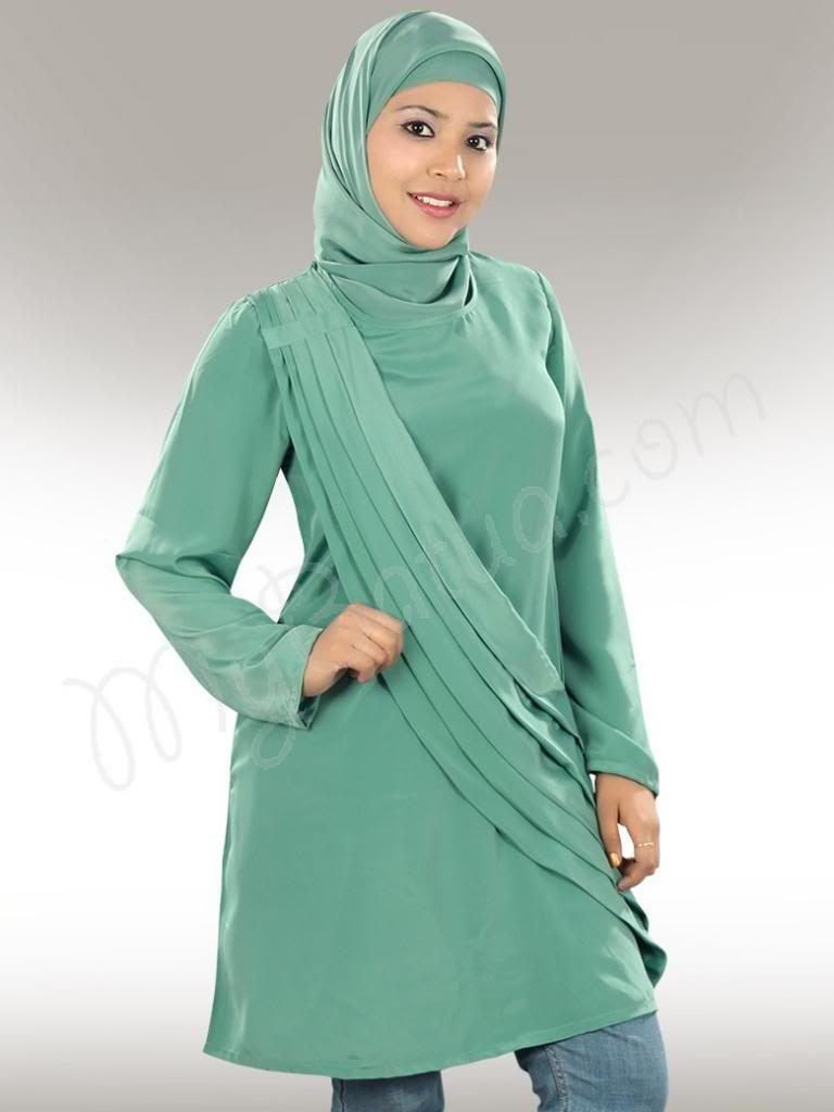 Beautiful sea green party wear tunic mybatua nazish tunic