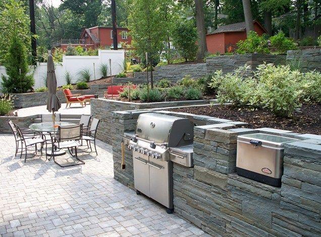 bbq outdoor kitchen designs. Stone Grill Surround Outdoor Kitchen Jody Shilan Designs Wyckoff