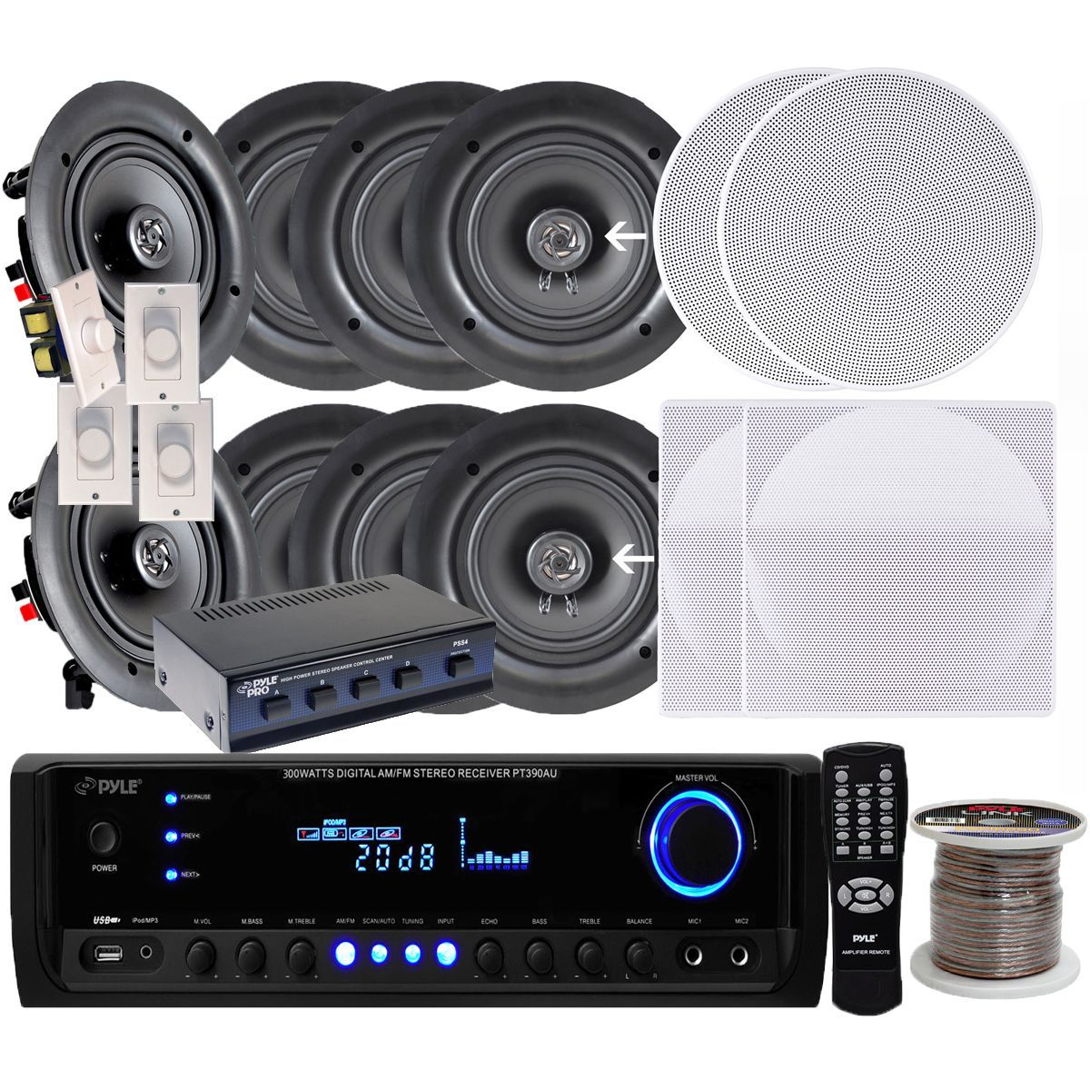 Pyle Kthsp690 65 Inch 200w In Ceiling Speakers 4 Pair 300w Wiring Overstockcom Online Shopping Bedding Furniture Electronics Jewelry Clothing More Speakersstereo