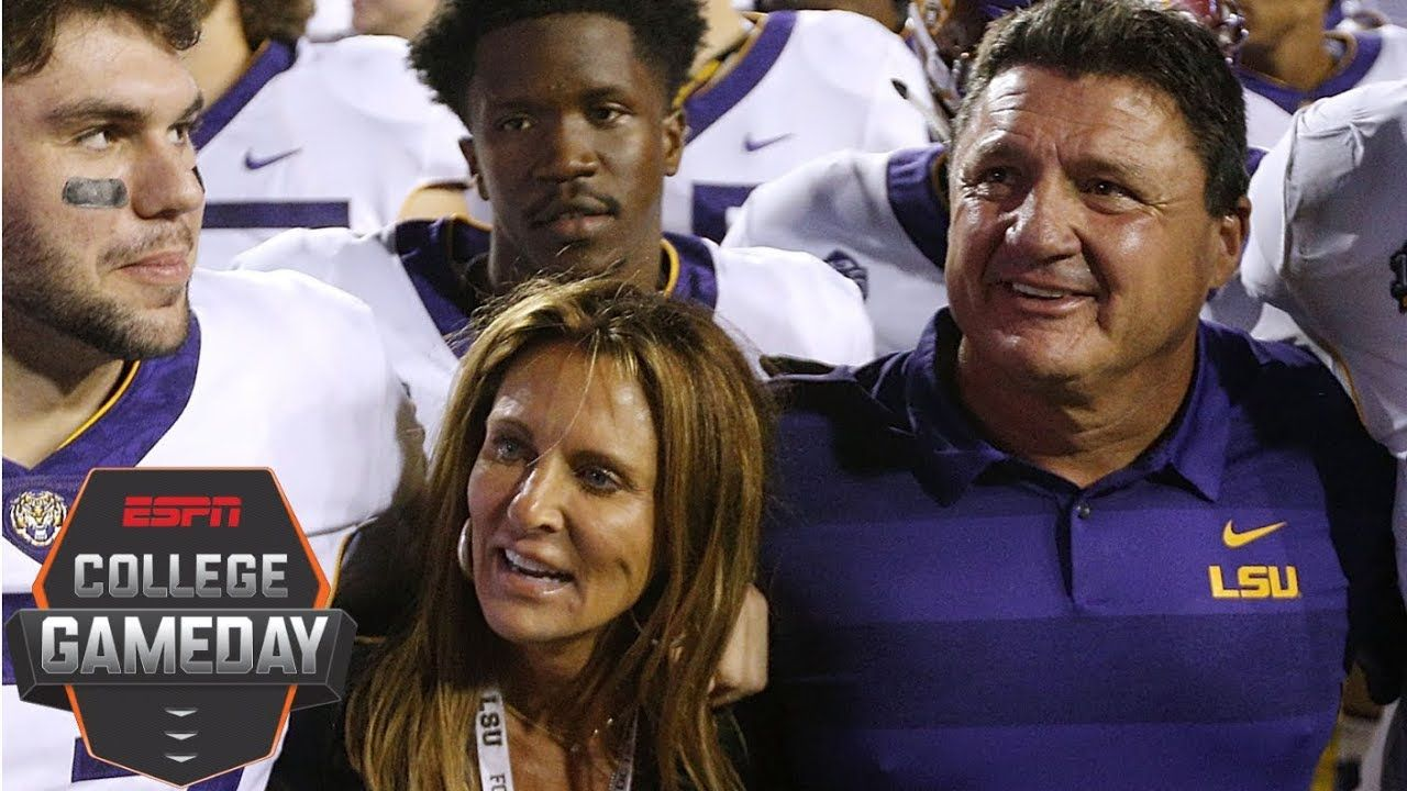 Lsu Coach Ed Orgeron Drawing Inspiration From Wife After Her Medical Emergency College Gameday Lsu Emergency Medical Gameday