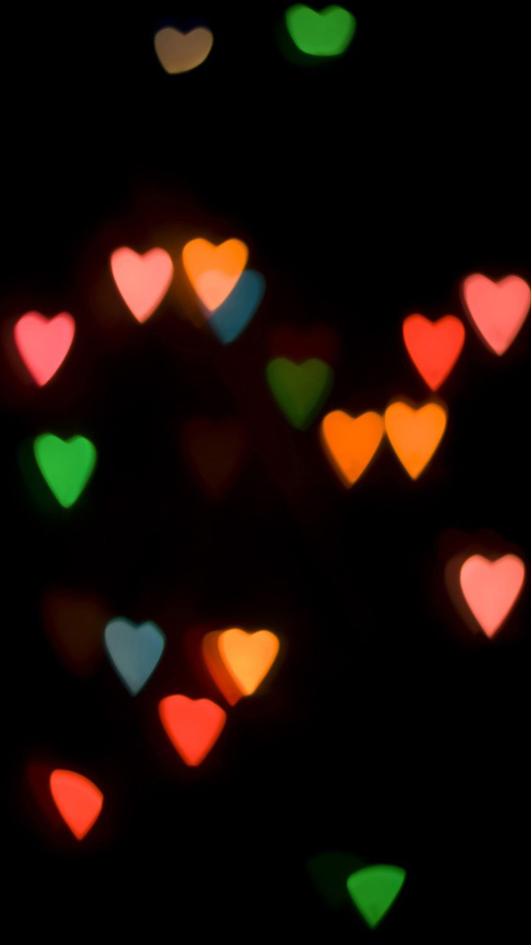 Wallpaper iphone cute love - Abstract Colorful Love Light In Dark Iphone 6 Plus Wallpaper