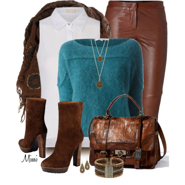 Angora & Leather, created by myfavoritethings-mimi on Polyvore